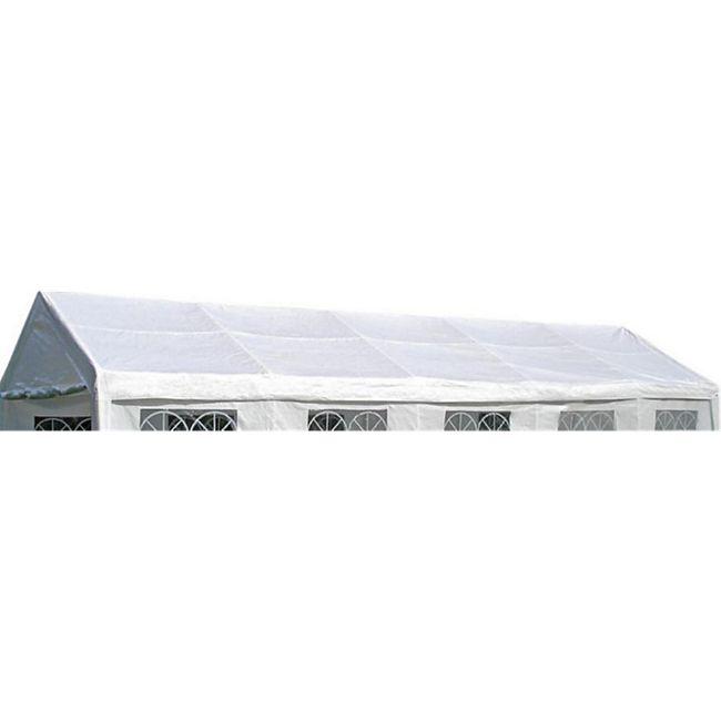 DEGAMO Ersatzdach / Dachplane PALMA für Zelt 4x10 Meter, PE weiss 180g/m², incl. Spanngummis - Bild 1