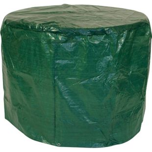 DEGAMO Abdeckhaube Tisch 100x70cm rund, PE dunkelgrün - Bild 1