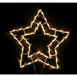 DEGAMO Weihnachtssilhouette Stern mit 50 LED, warmweiss - Bild 1