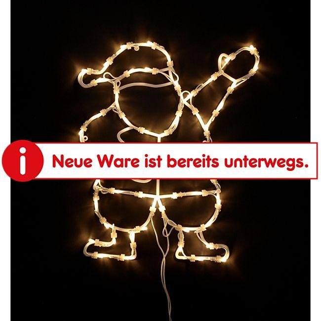 DEGAMO Weihnachtssilhouette Weihnachtsmann mit 50 LED, warmweiss - Bild 1
