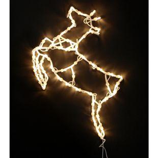 DEGAMO Weihnachtssilhouette Rentier mit 50 LED, warmweiss - Bild 1
