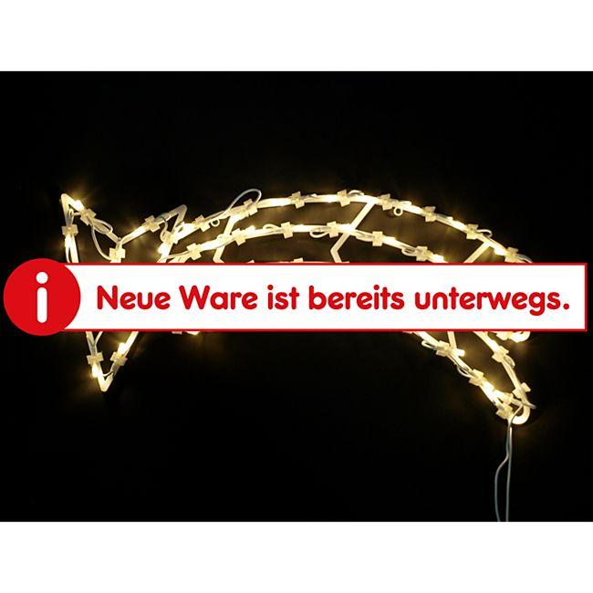DEGAMO Weihnachtssilhouette Sternschnuppe mit 50 LED, warmweiss - Bild 1