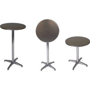 DEGAMO Stehtisch MARCEL 60cm rund, Aluminium + Edelstahl, klappbar - Bild 1