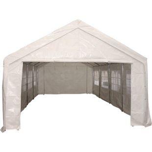 DEGAMO Profi - Zelt PALMA 4x10 Meter, PVC weiss - Bild 1