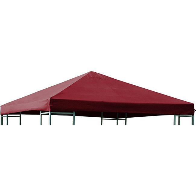 DEGAMO Ersatzdach für Metall- und Alupavillon 3x3 Meter bordeauxrot, wasserdicht PVC-beschichtet - Bild 1