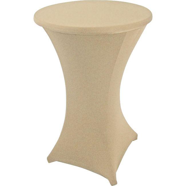 DEGAMO Stretchhussen für Stehtisch bis 70cm, creme - Bild 1