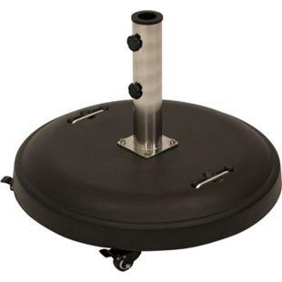 DEGAMO Schirmständer 50kg rund, Beton schwarz, mit Rollen - Bild 1