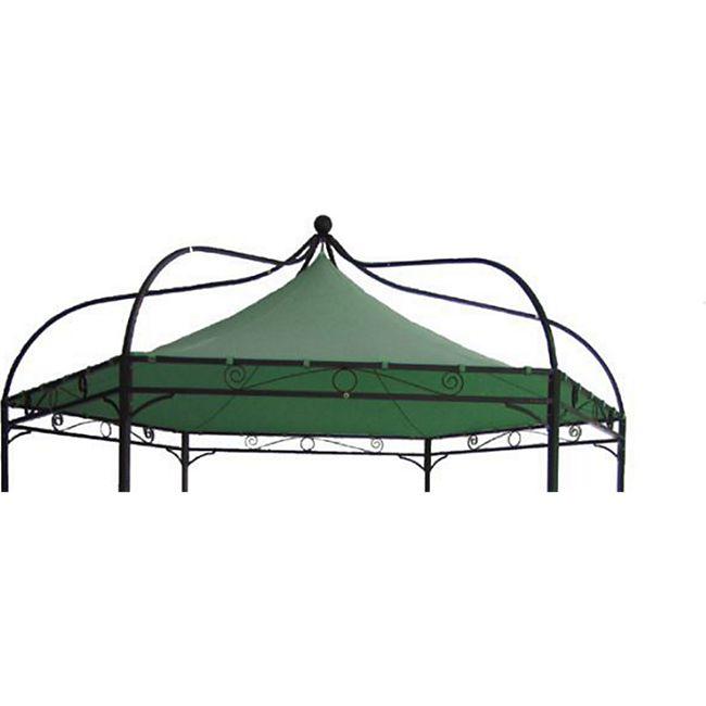 DEGAMO Ersatzdach für Pavillon MODENA, Polyester PVC-beschichtet grün - Bild 1
