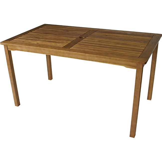 DEGAMO Tisch ST. VINCENT 140x80cm, Akazie geölt, - Bild 1