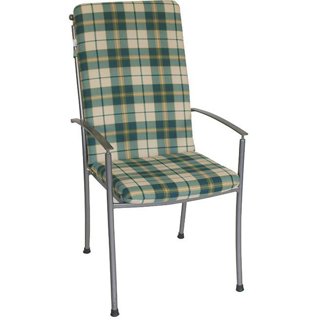 DEGAMO Auflage BOSTON für Hochlehner-Sessel, grün/beige kariert - Bild 1