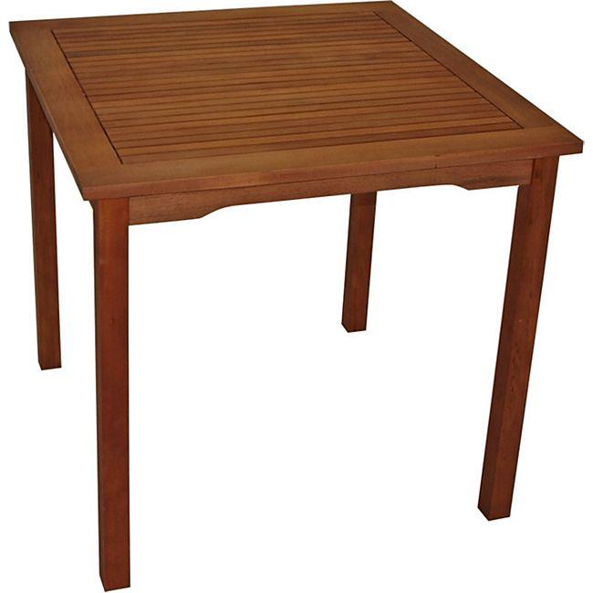 DEGAMO Tisch LAGO 80x80cm, Eukalyptus geölt, - Bild 1