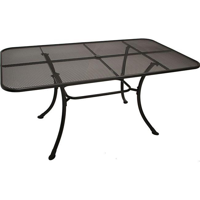 DEGAMO Tisch RIVO 160x90cm, Streckmetall eisengrau - Bild 1