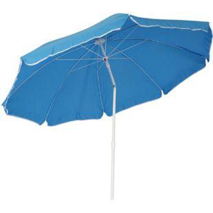 DEGAMO Strandschirm 180cm Durchmesser hellblau, knickbar, Untergestell Stahl, Material Bezug 100% Polyester, Gewicht 3kg - Bild 1