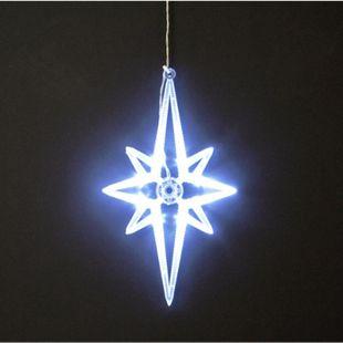 DEGAMO Fensterbild Polarstern 28cm, 8 LED weiss - Bild 1
