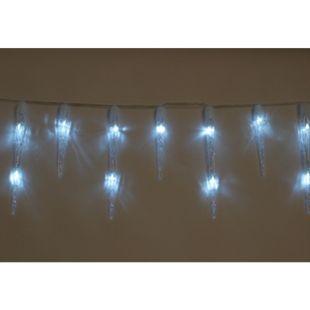 DEGAMO Lichterkette Eiszapfen 5 Meter, 50 LED weiss - Bild 1