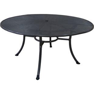 DEGAMO Tisch RIVO 150cm rund, Streckmetall eisengrau - Bild 1