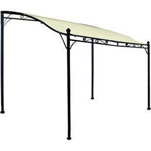 DEGAMO Anbaupavillon MANTOVA 3x2,5 Meter, Stahl dunkel, Plane PVC-beschichtet écru - Bild 1