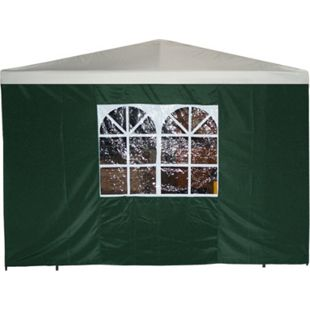 DEGAMO Seitenplane für Pavillon, 3x1,9 Meter, Polyester grün mit Fenster - Bild 1