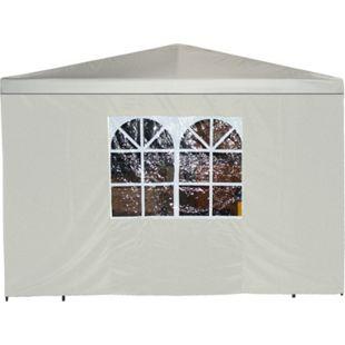 DEGAMO Seitenplane für Pavillon, 3x1,9 Meter, Polyester ecru mit Fenster - Bild 1