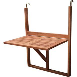 DEGAMO Balkonhängetisch 60x40cm, Akazienholz geölt - Bild 1