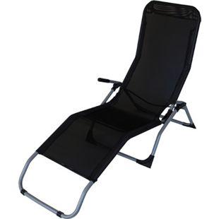 DEGAMO Gesundheitsliege SYLT, Stahl + Kunstgewebe schwarz, faltbar - Bild 1