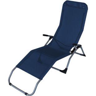 DEGAMO Gesundheitsliege SYLT, Stahl + Kunstgewebe blau, faltbar - Bild 1