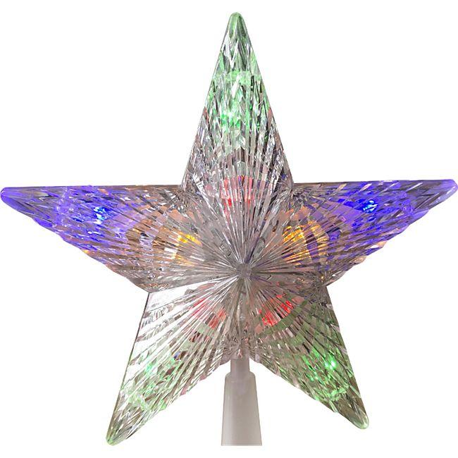 DEGAMO Christbaumspitze 24cm, 10 LED Lichter mehrfarbig - Bild 1