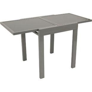 DEGAMO Balkon-Ausziehtisch AMALFI 65/130x65cm, Aluminium + Glas - Bild 1
