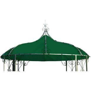 DEGAMO Ersatzdach für Pavillon BURMA, Polyester PVC-beschichtet dunkelgrün - Bild 1