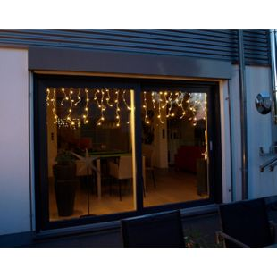 DEGAMO Eislichtervorhang mit 160 LED, Innen + Aussen - Bild 1