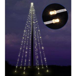 DEGAMO Fahnenstange Lichterkette 10 Meter, 400 LED warmweiss - Bild 1