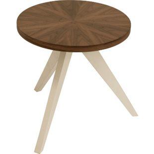 DEGAMO Beistelltisch TABLET rund 45cm, Nußbaum furniert - Bild 1