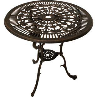 DEGAMO Tisch Jugendstil 70cm rund, Aluguss bronze antik - Bild 1