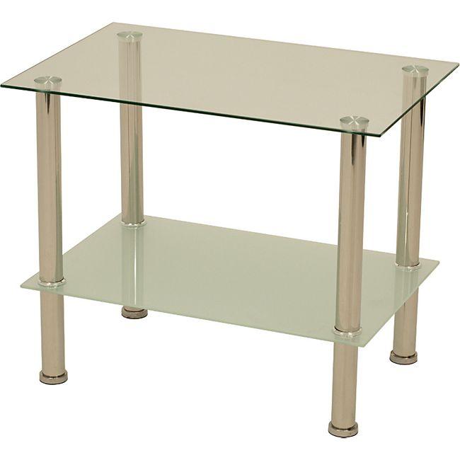 degamo couchtisch beistelltisch queens 60x40x50cm edelstahl glas online kaufen netto. Black Bedroom Furniture Sets. Home Design Ideas