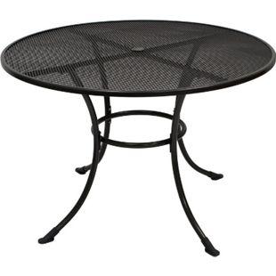DEGAMO Tisch RIVO 110cm rund, Streckmetall eisengrau - Bild 1