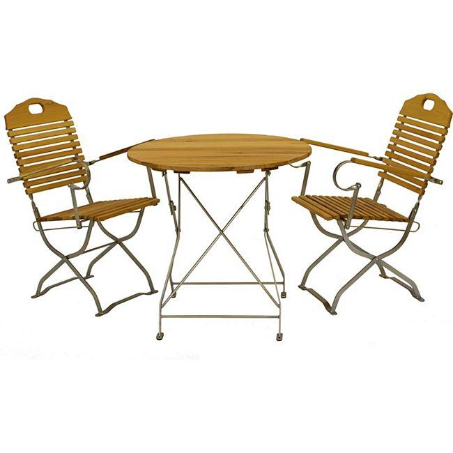 gartenmoebel einkauf kurgarten garnitur bad t lz 3 teilig flachstahl verzinkt robinie. Black Bedroom Furniture Sets. Home Design Ideas