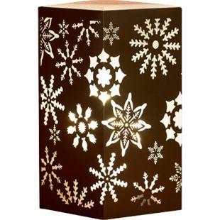 DEGAMO Dekolampe aus Metall braun, Motiv Schneeflocke, LED - Bild 1