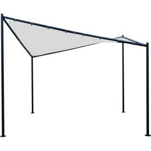 DEGAMO Sonnensegel Pavillon ORLANDO 3,5x3,5  Meter mit Plane PVC-bechichtet weiss - Bild 1