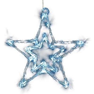 DEGAMO Weihnachtssilhouette Stern 20 LED eisweiss - Bild 1