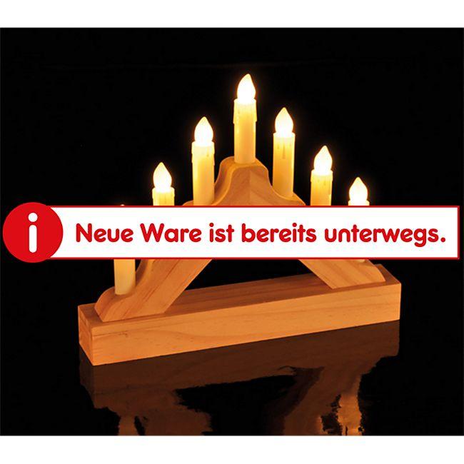 DEGAMO Kerzenbogen elektrisch mit 7 LED kleine Ausführung, Holz natur - Bild 1
