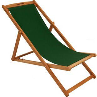DEGAMO Liegestuhl PLAYA Eukalyptus + Textilbezug dunkelgrün - Bild 1