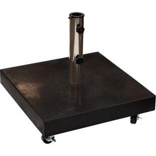 DEGAMO Schirmständer 50kg mit Rollen, Granit, schwarz - Bild 1