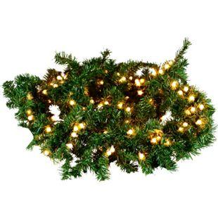 DEGAMO Weihnachtsgirlande 270cm grün, mit 200 LED, Innen und Aussen - Bild 1
