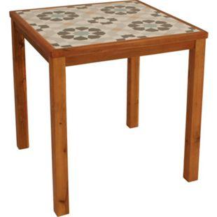DEGAMO Tisch SANTA CLARA 65x65cm, Tischplatte Keramik, Gestell Eukalyptus, FSC®-zertif. - Bild 1