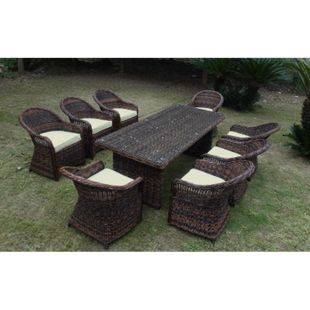 Baidani Rundrattan Garten Sitzgruppe Charming Braun Select - Bild 1