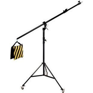 BRESSER BR-LB300 Lampenstativ mit Schwenkarm und Rollen - Bild 1