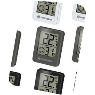 BRESSER Temeo Hygro Indikator 3er Set Thermo-/Hygrometer Farbe: weiss - Bild 1
