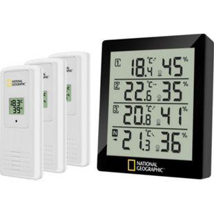 NATIONAL GEOGRAPHIC digitales Thermo-Hygrometer für 4 Messbereiche - schwarz - Bild 1
