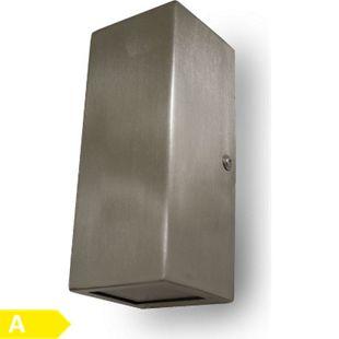 Led Wandleuchte UpDown edelstahl IP44 2x5 W warmweiß 10762 - Bild 1