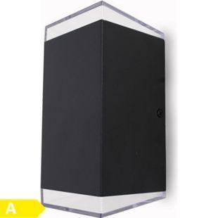 Led Wandleuchte Außen-Wandleuchte Jona schwarz UpDown 2x3 W 3000K 10833 - Bild 1